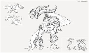 Creature Sketch_008 by Koiless-Artwork