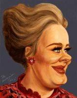 Adele caricature by Mandala87