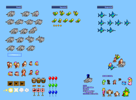 MLSS Animal Buddies Sprites Sheet by PxlCobit