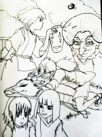 Spirited Away lineart by Roberto-210296