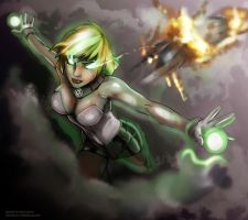 Green lantern Arisia. by GaaraJapanime