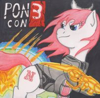 Pon3 Con *Ponies in Space* Poster by The1King