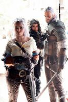Geralt of rivia, yennefer and ciri by Zephon-cos
