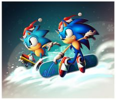 """Sonic The Hedgehog - 20 Natais"" by sergio-borges"