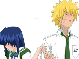 lets hold hands-naruhina by drummerchick13