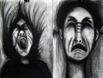 charcoal works by psychopathic-jad