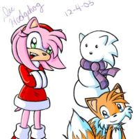 Amy, Tails, and Sonicman by kittydee