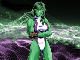 She-Hulk II wallpaper. by TheRezidentEvil