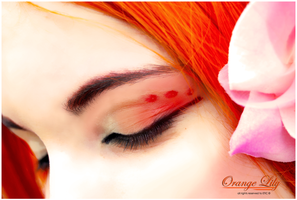 Orange Lily  - Make-Up by Cat-sama