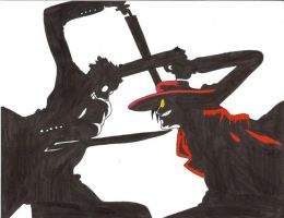 Anderson Vs. Alucard by AkinaWolf