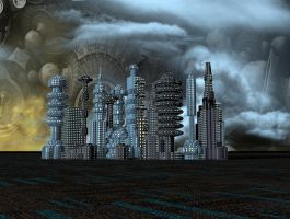 SSCI-FI CITY BACKGROUND by mysticmorning