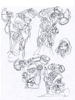 More Mechanicus Sketches by NachoMon