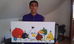 Angry Birds Canvas by Ooasis