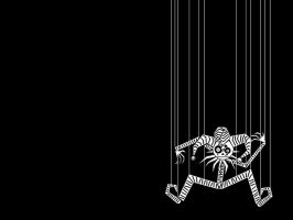 -The Sad Puppet Wallpaper- by open-face