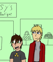 At The Mall by InvaderAllieNinja