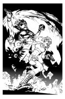 Tomb Raider cover inked by gz12wk