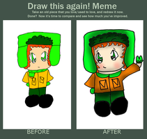 500: Before and After meme with Kyle by Hallerpl