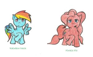 Practise Ponies by Moons-Wing