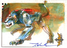 VOLTRON Blue Lion by markmchaley