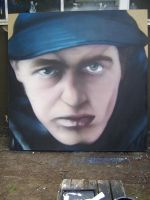self portrait canvas by DONES1