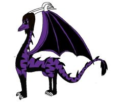 Me the purple dragon by TakAshleyRed