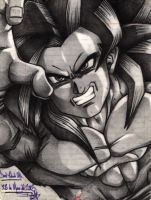 Goku saya 4 pencil by Danderfull