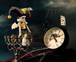 In a clock world you and I are both lost by Angell-studio