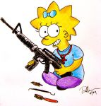 Maggie Simpson age 8 by balba-bunny