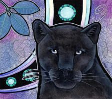 Melanistic Jaguar as Totem II by Ravenari