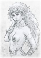 Sketch Commission: Nhymue by SerenaVerdeArt