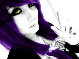 Purple Hair with Yellow Eyes by Artifice1221