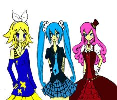 The vocaloid girls by Otakucouture