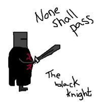 The Black Knight by MercuryMay