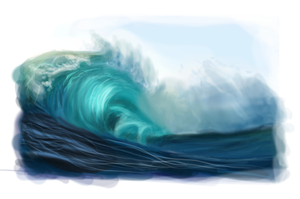 Wave Speedpaint by Sevilai