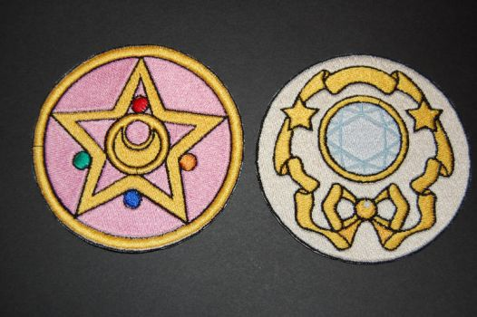 Sailor Moon Locket Iron on Patches by RabbitTales