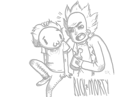Rick and Morty by SatansCaturday