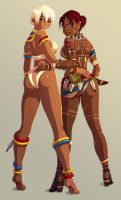 Elena and Sheva - Capcom girls by mrudowski