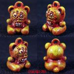 Freako Bear Necklace Charm by Undead-Art