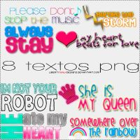 8 textos PNG by LibertyWalkDesigns