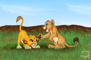 Simba and Nala by ShebaWild