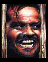 Jack Nicholson - The shining by Lampert