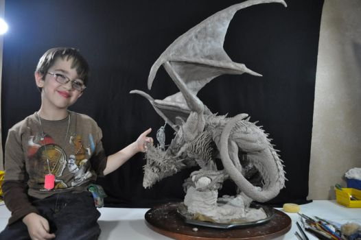 Dragon: Wyrm Statue Size comp by AntWatkins