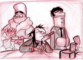 Russle, Noodle and Murdoc by Balak01