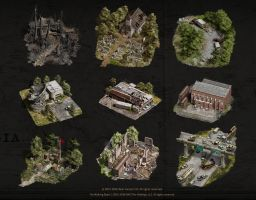 The Walking Dead - No Man's Land  (map icons) by StMan