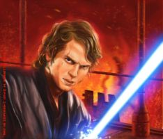 Anakin on Mustafar by DavidRabbitte