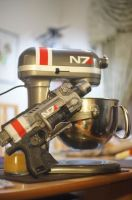 N7 KitchenAid Mixer and Nerf by Derlaine8