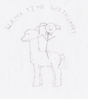 Llama Time With Larry by Ariah101