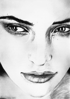 Charcoal Portrait Drawing by darrenOhhh