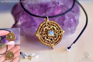 Amulet of Mara Skyrim necklace | Polymer clay by Crystarbor