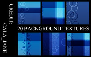 20 blue textures by calajane